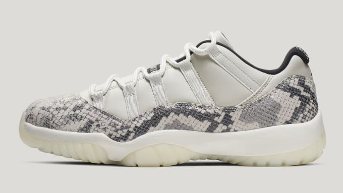 5771fc6eb07b Air Jordan 11 XI Low Light Bone Release Date CD6846-002 Profile. Image via  Nike