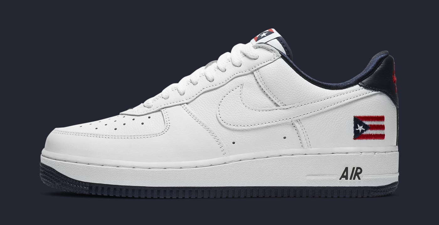 Nike Air Force 1 Low 'Puerto Rico' 2020 CJ1386 100 Lateral