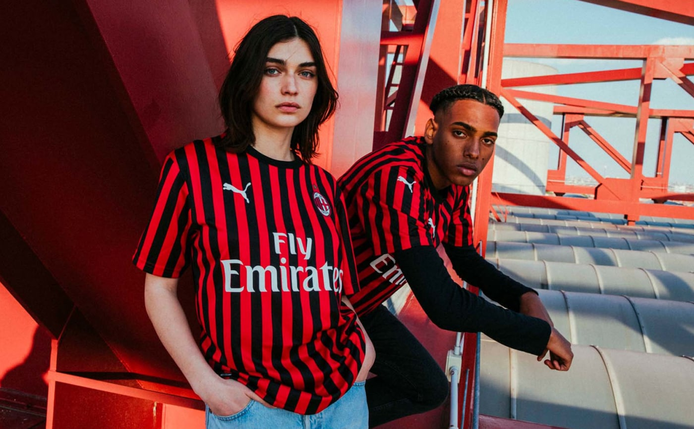 ac milan home kit 2019 20