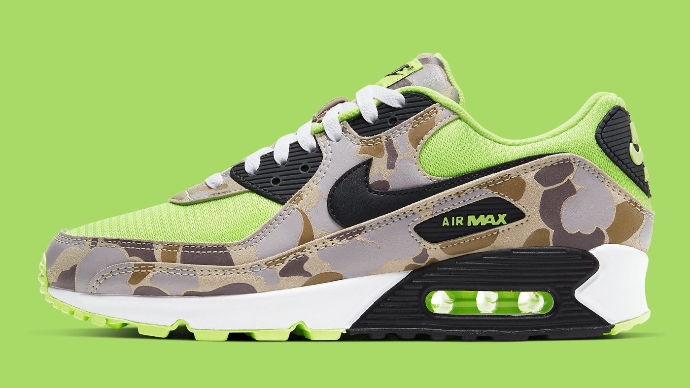 Nike Air Max 90 Volt Duck Camo Ghost Green Release Date CW4039-300 Profile