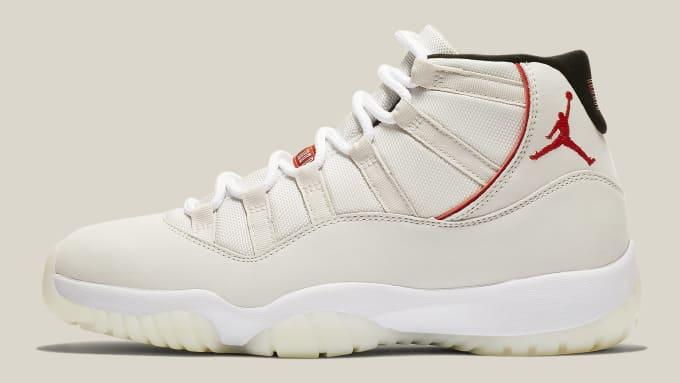 9a068287d4d263 Air Jordan 11 XI Platinum Tint Release Date 378037-016 Profile