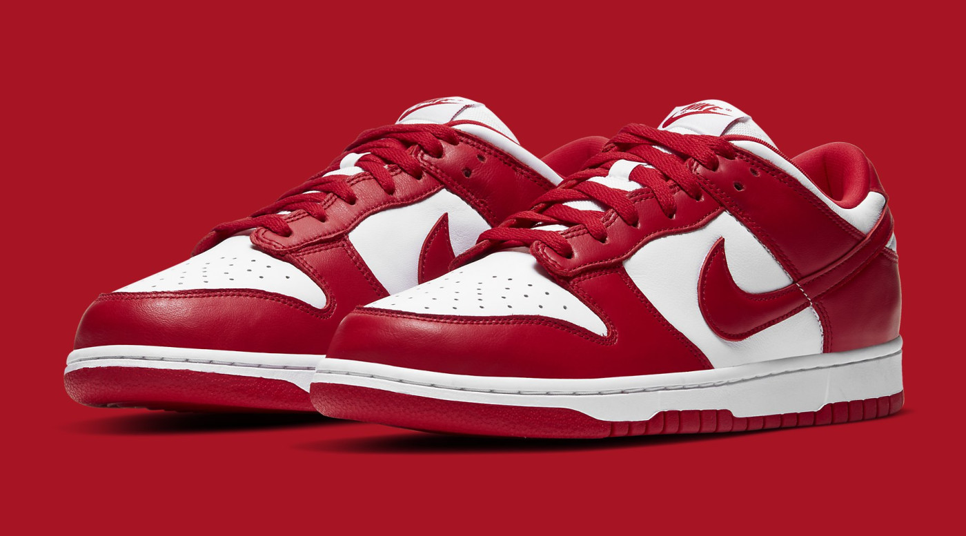 Nike Dunk Low University Red Release Date CU1727-100 Pair