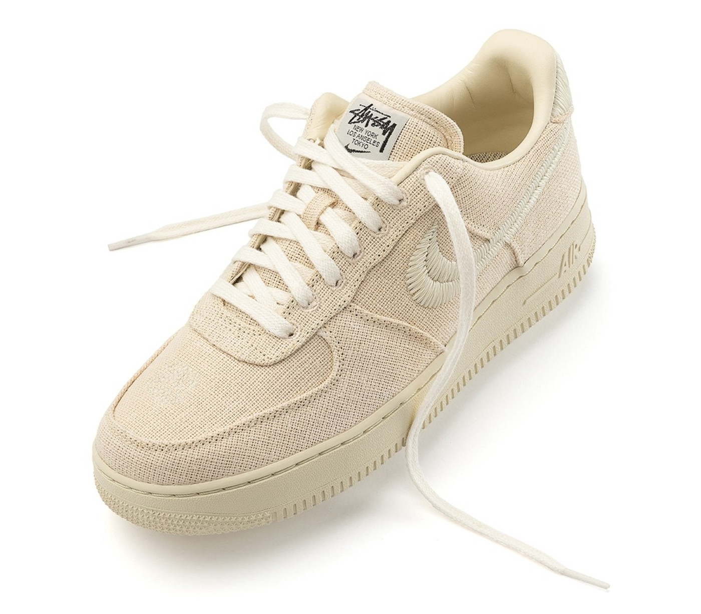 Stussy x Nike Air Force 1 Low 'Fossil Stone' Front
