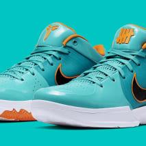 UNDFTD x Nike Kobe 4 Protro Teal Release Date CQ38869-300 Pair