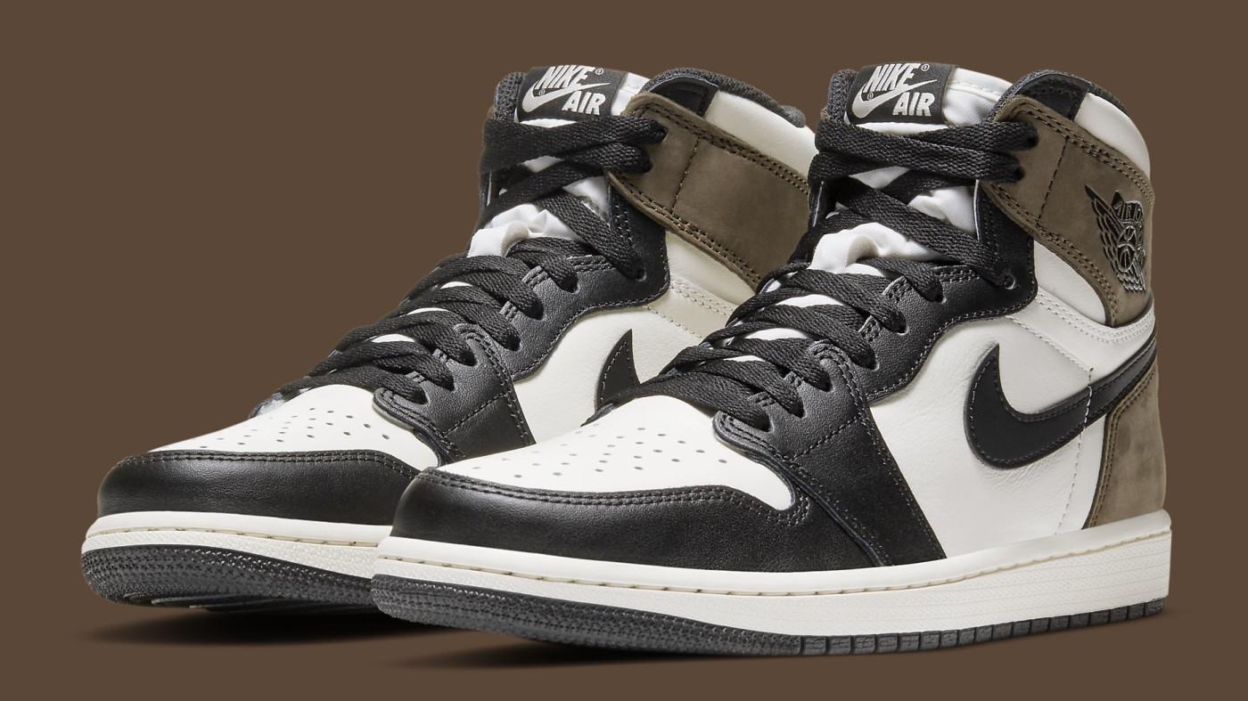 Air Jordan 1 Dark Mocha Release Date 555088-105 Pair