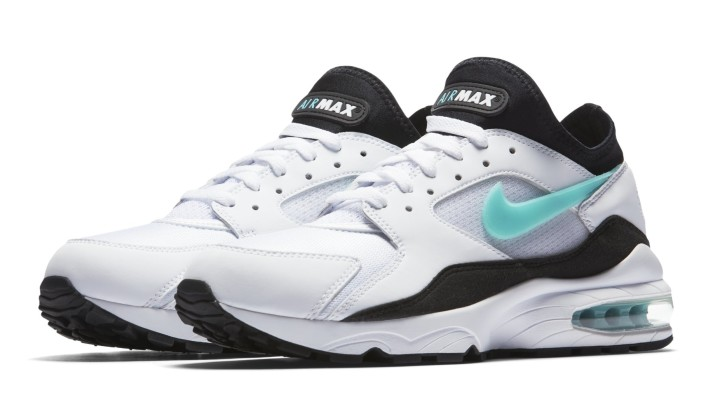 Nike Air Max 93 'Dusty Cactus' White/Sport Turquoise-Black 306551-107 (Pair)