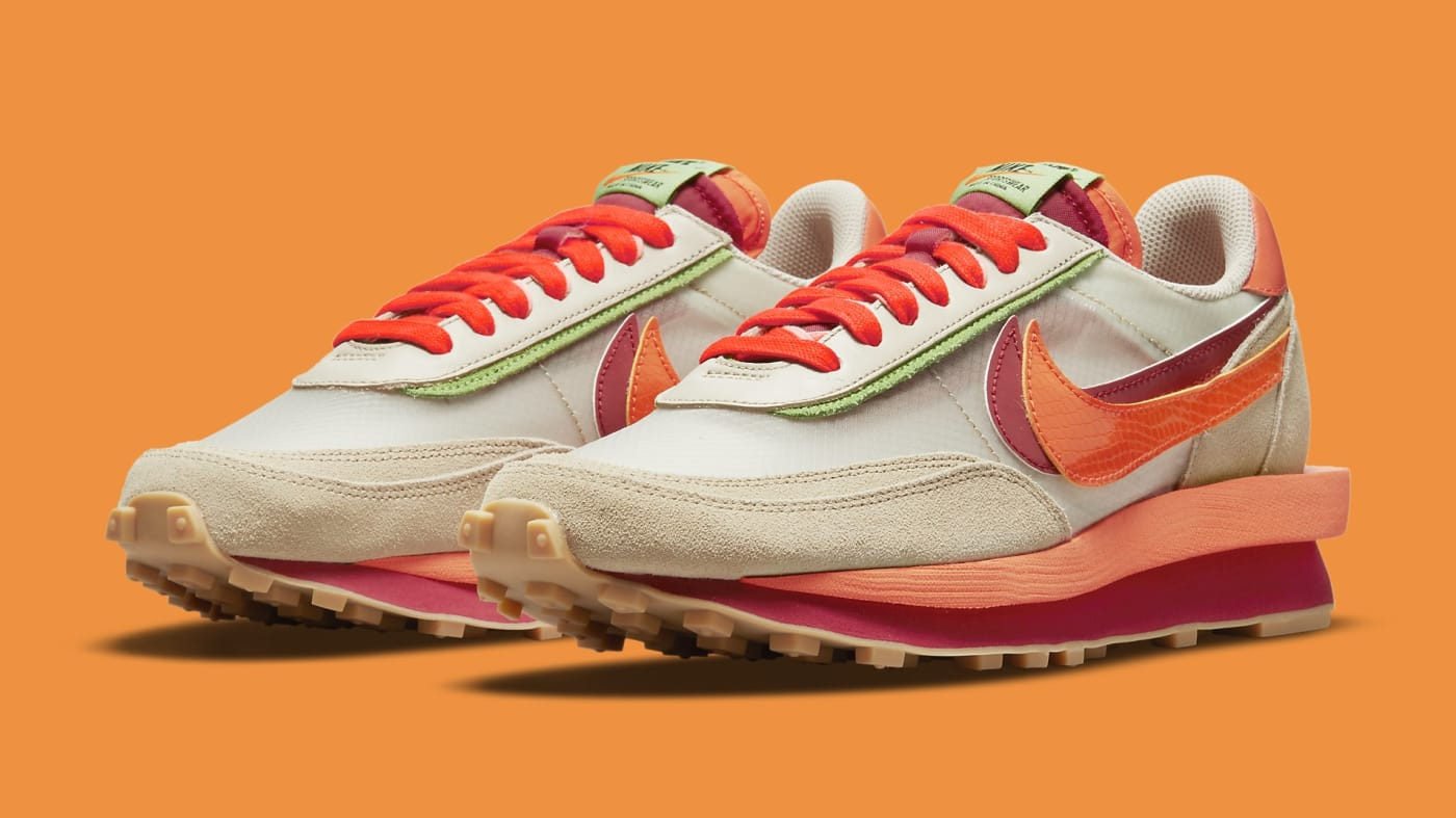 Sacai x Clot x Nike LDWaffle DH1347-100 Pair