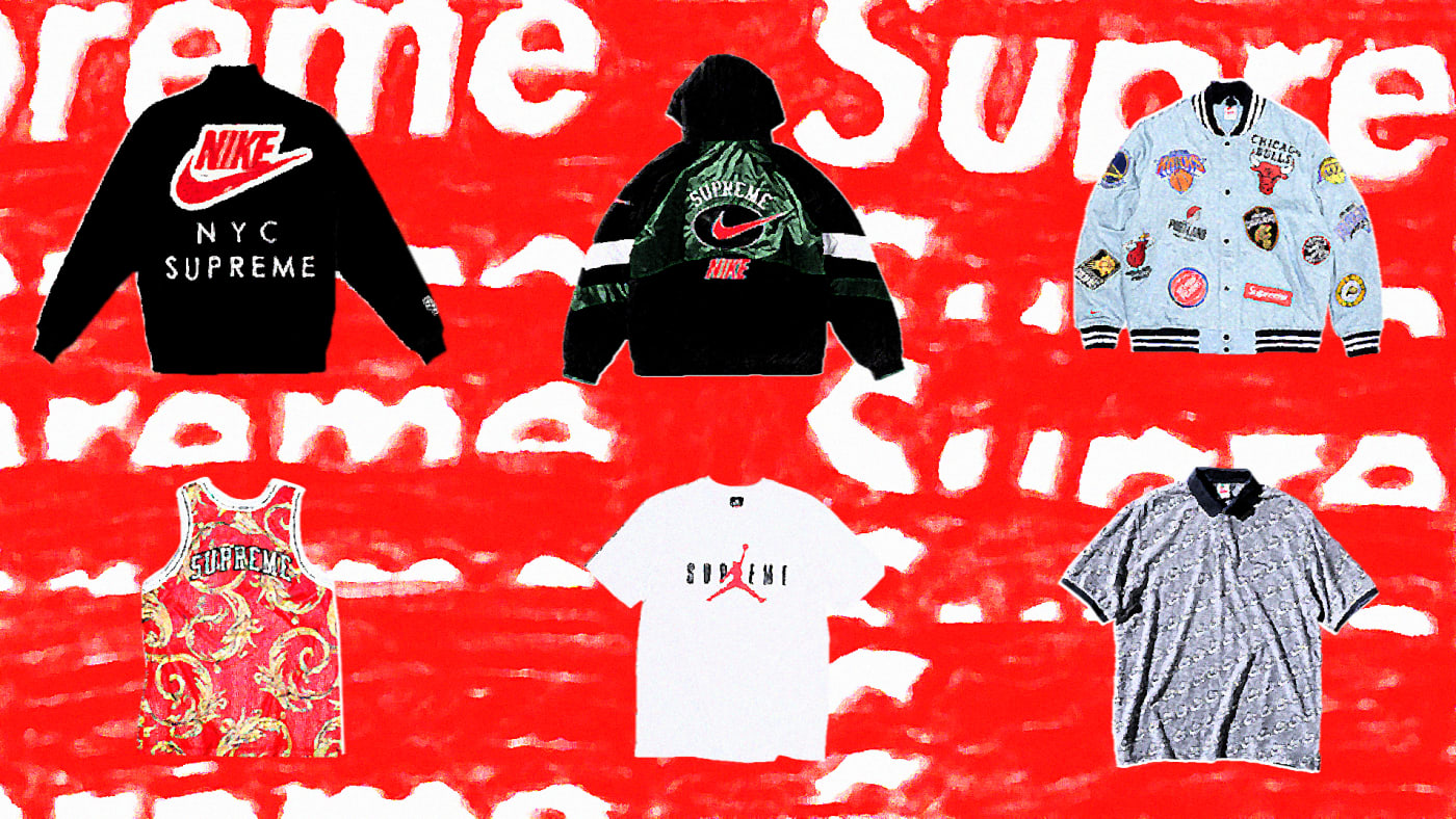 Supreme x Nike Apparel Collaborations