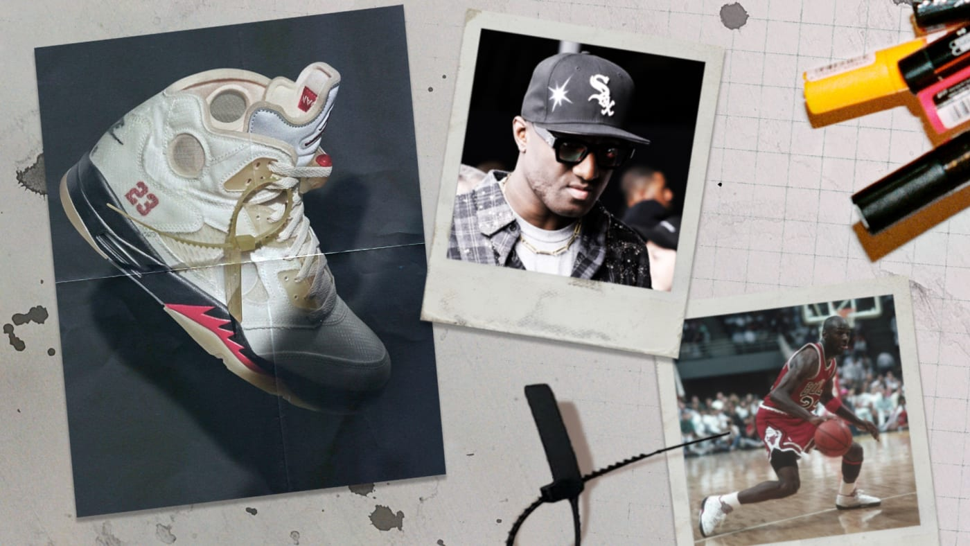 Virgil Abloh Off White x Air Jordan 5 'Sail'