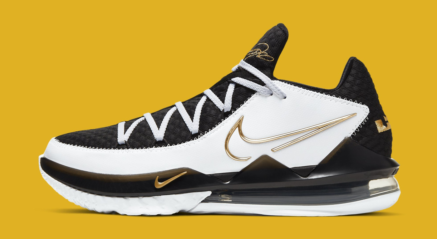 Nike LeBron 17 Low 'Metallic Gold' CD5007-101 Lateral