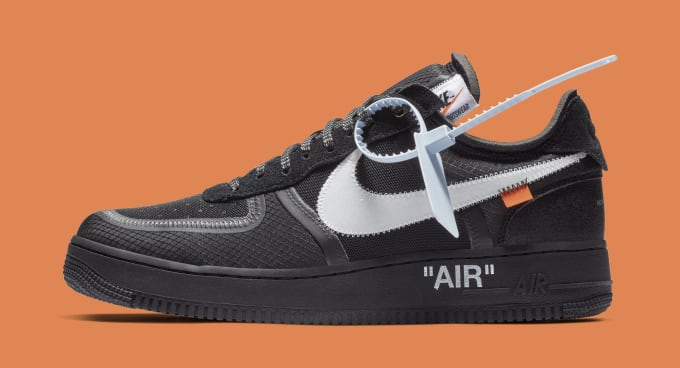 314fdd437d5ca Off-White x Nike Air Force 1 Low  Black White  AO4606-