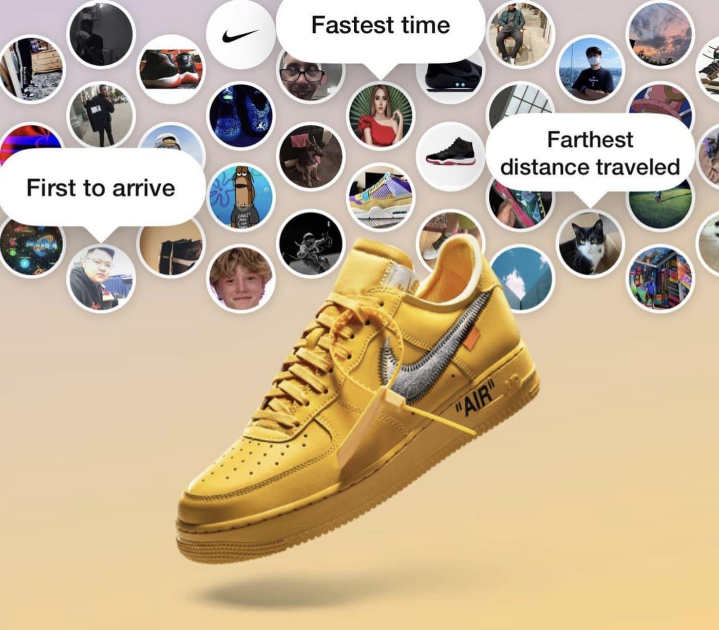 Off-White x Nike Air Force 1 'Lemonade' ICA Boston (SNKRS Stash)