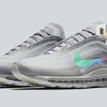 Off-White x Nike Air Max 97 Off-White Wolf Grey White Menta Release Date AJ4585-101 Pair