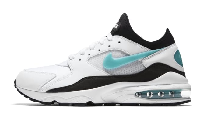 Nike Air Max 93 'Dusty Cactus' White/Sport Turquoise-Black 306551-107 (Lateral)