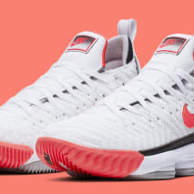 Nike LeBron 16 'Hot Lava' White CI1521-100 Pair
