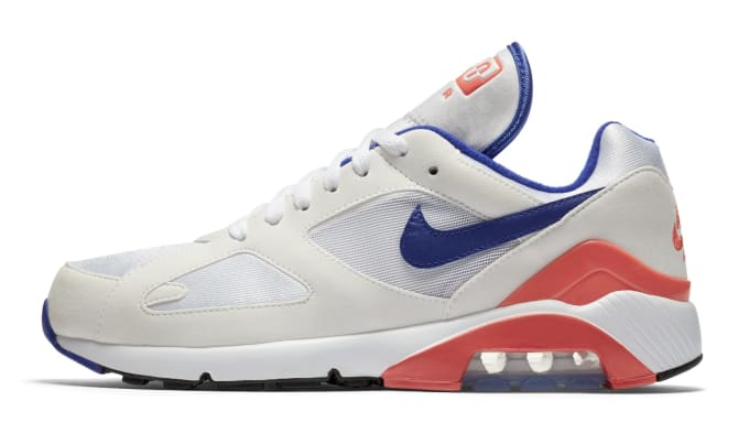Nike Air Max 180 OG White/Ultramarine-Solar Red-Black 615287-100 (Lateral)