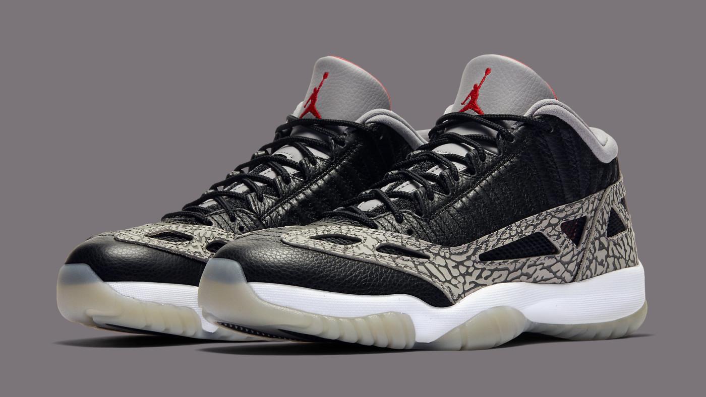 Air Jordan 11 Retro Low IE 'Black Cement' 919712-006 Pair