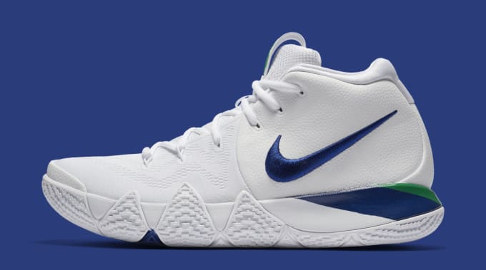173a2435b02f Nike Kyrie 4  White Deep Royal Blue  943806-103 ...