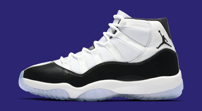 499c866016e2 Air Jordan 11  Concord  378037-100 (Lateral). Image via Nike