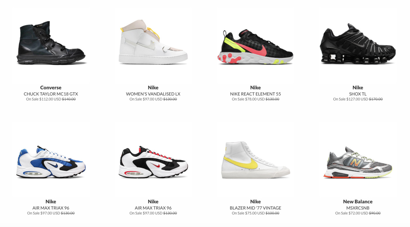 10 Sneaker Stores Online With The Best Sale Sections | Complex