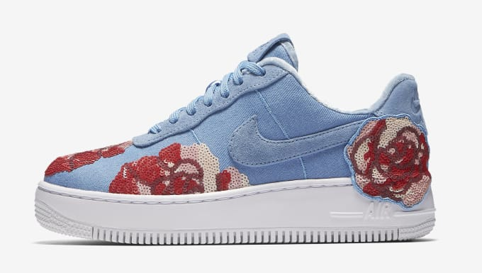 88758804f3e5 Nike Air Force 1 Low Floral Sequin Pack 898421-402 (Lateral)