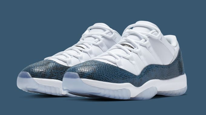 3d475ba98546f5 Air Jordan 11 Low  Blue Snakeskin  ...
