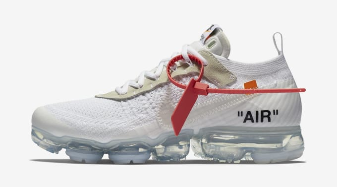 bbf16a3a13d6 Off-White x Nike Air VaporMax  White Black Total Orange  AA3831