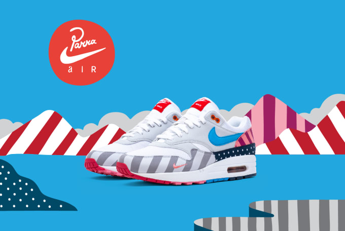 separation shoes 10e25 2f3d6 Parra x Nike Air Max 1 AT3057-100