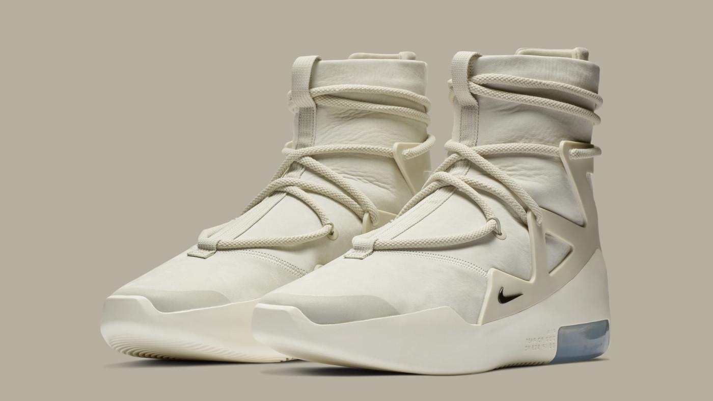 Nike Air Fear of God 1 'Light Bone/Black' AR4237-002 (Pair)