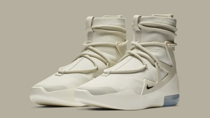 Nike Air Fear of God 1 'Light Bone/Black' AR4237-002 (Pair)