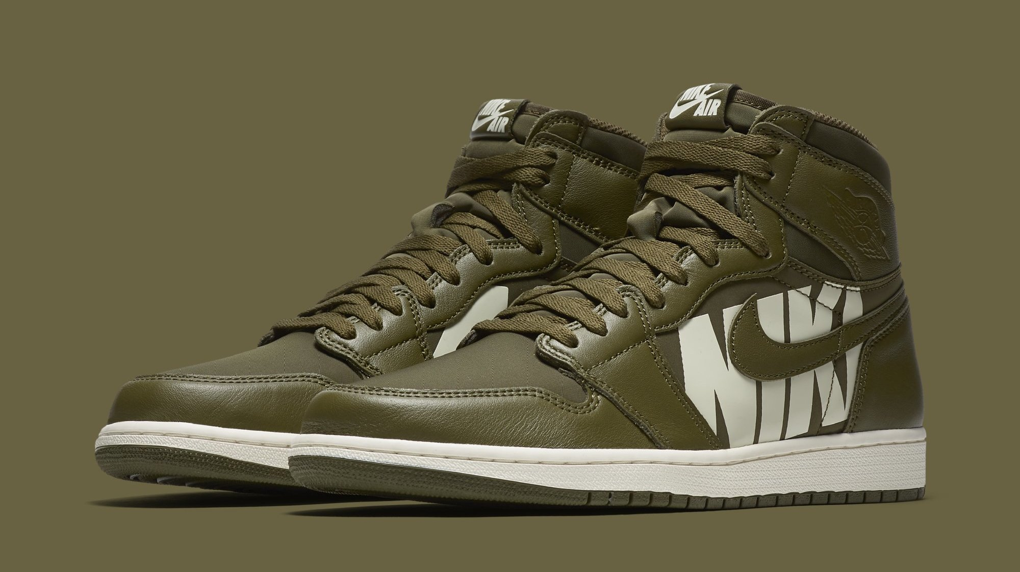 A Closer Look at the 'Olive Canvas' Air Jordan 1