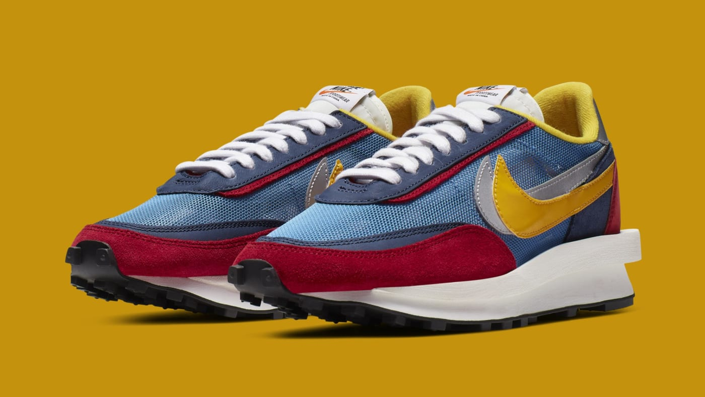 Sacai x Nike LDWaffle 'Varsity Blue/Del Sol/Varsity Red/Black' BV0073 400 (Pair)