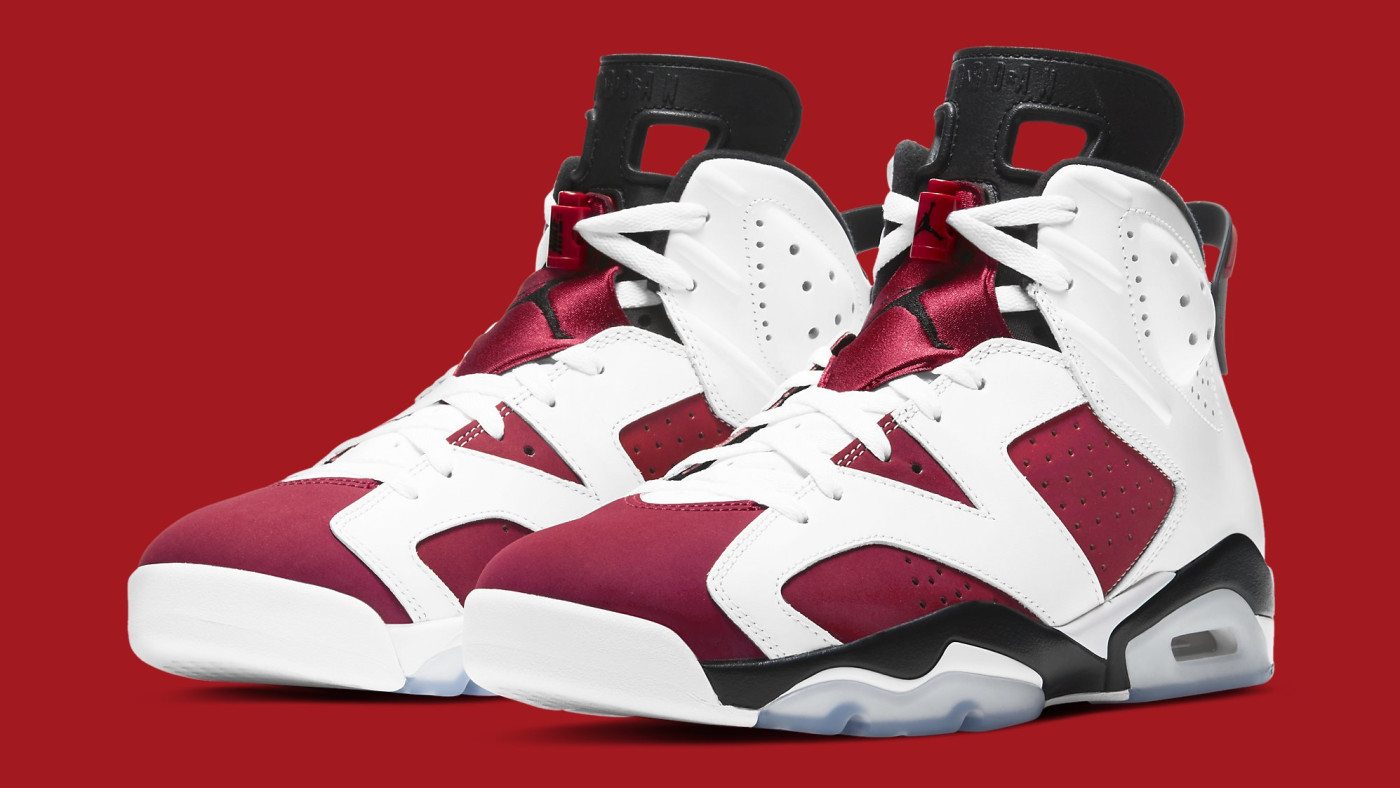 Air Jordan 6 Retro 'Carmine' 2021 CT8529-106 Pair