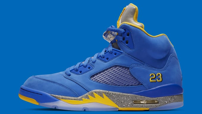 adae297f921a Air Jordan 5 Laney Blue Release Date CD2720-400 Profile