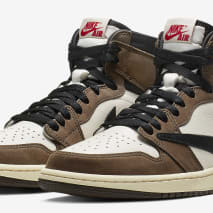 Travis Scott x Air Jordan 1 Brown Release Date CD4487-100 Pair