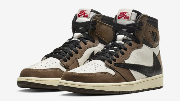 the best attitude 9bf50 1c737 Travis Scott x Air Jordan 1 Brown Release Date CD4487-100 Pair. Image via  Nike