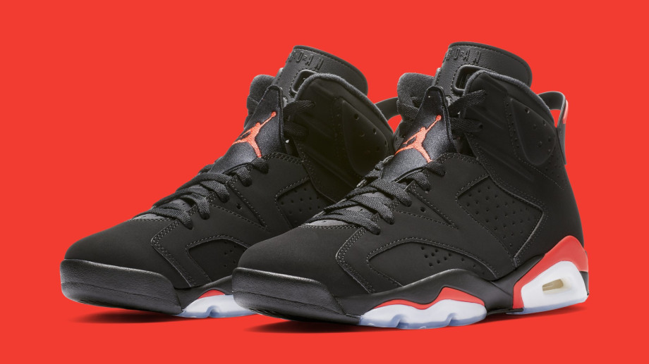 Air Jordan 6 'Black Infrared' 384664-060 (Pair)