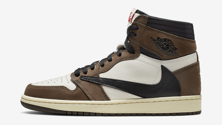 Travis Scott x Air Jordan 1 Brown Data de Lançamento CD4487-100 Perfil