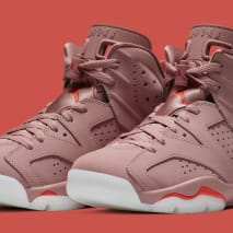 Aleali May x Air Jordan 6 'Rust Pink/Bright Crimson' CI0550-600 (Pair)