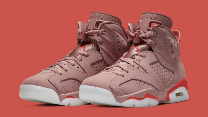 Aleali May x Air Jordan 6  Rust Pink Bright Crimson  CI0550-600 7e63d84da1