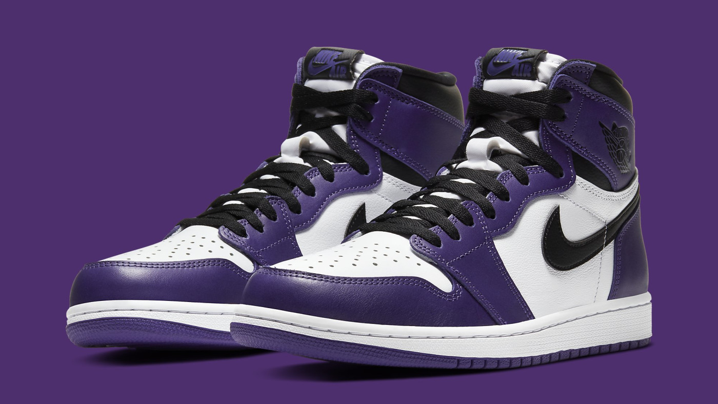 Air Jordan 1 Court Purple Release Date 555088-500 Pair