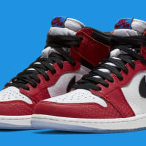 Air Jordan 1 'Origin Story' Red/White-Photo Blue-Black 555088-602 (Pair)