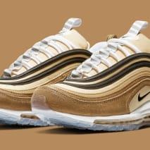 Nike Air Max 97 'Ale Brown/Black-Elemental Gold' 921826-201 (Pair)