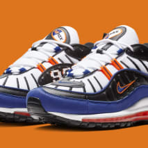 Nike Air Max 98 'White/Deep Royal Blue-Total Orange-Black' CD1536-100 (Pair)