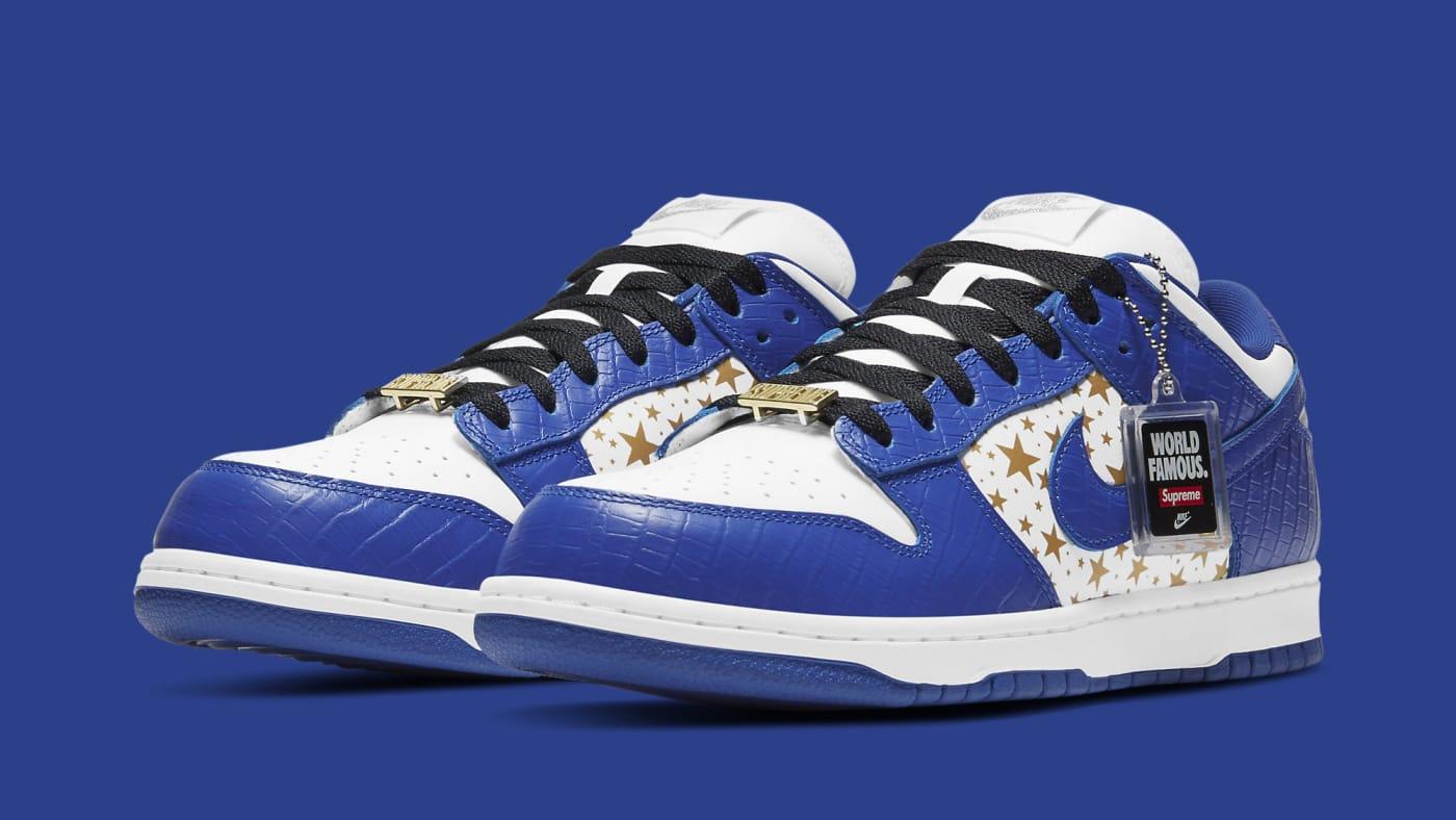 Supreme x Nike SB Dunk Low 'Hyper Royal' DH3228 100 Pair