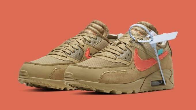 Off-White x Nike Air Max 90 'Desert Ore' AA7293-200 (Pair)