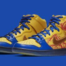 Nike SB Dunk High 'Doernbecher' Vivid Sulfur/Game Royal 579603-740 (Pair)