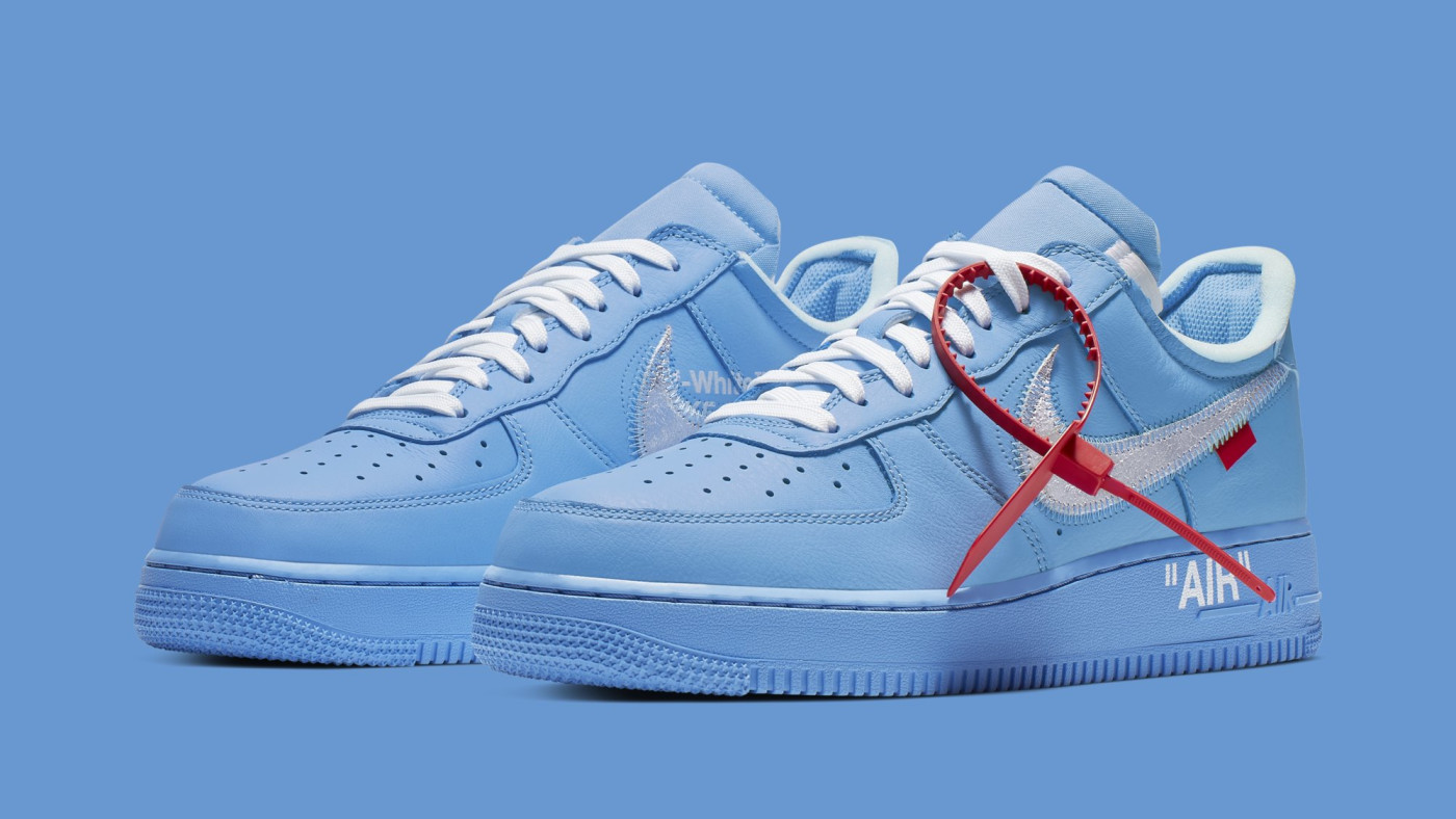 nike air force 1 x off white mca blue price