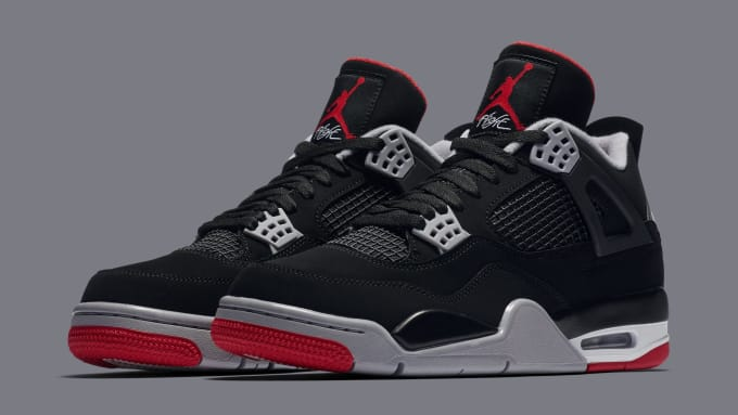 1ddfdfd67b42 Air Jordan 4  Bred  308497-060 (Pair). Image via Nike. This week of ...