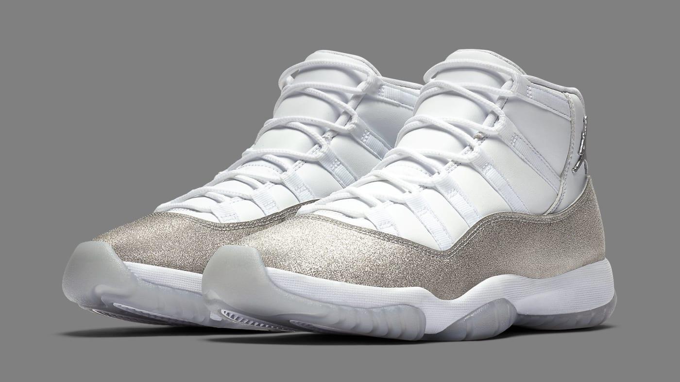 air jordan 11 xi womens vast grey metallic silver ar0715 100 pair